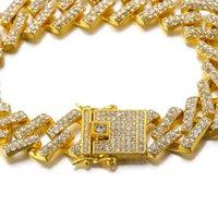 Lien, chaîne 2021 bracelets de tendance pour le couple de femmes en cristal complet strass cubain bijoux collier hip hop hip hop ifed sorti cz homme chaînes