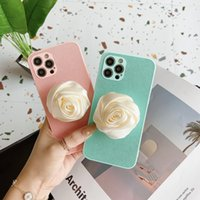Flower Bracke Leather Case for iPhone 12 11 Pro Max XR XS 7 8 Plus Full Protective Soft Kickstand Phone Shell Shockproof