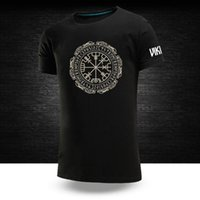 Men's T-Shirts Tshirts Big Size Male Viking Graphic Tops Casual Fashion Short Sleeves 100%Cotton Unisex Round Neck Hip Hop Sport Tee