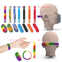 Fidget Toys Push Bubble Children Bracelet Mask Extender Stress Reliever Sensory Silicone Toy With Dimple