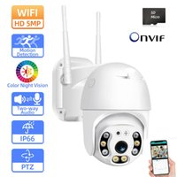 Cameras 5MP Wifi CCTV PTZ Surveillance Camera Outdoor Waterproof IP Security Wireless Colorful Night Vision H.265 ONVIF 2MP