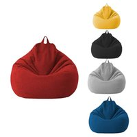 Chair Covers Lazy Sofa Cover Unfilled Linen Recliner Seat Bean Bag Puff Tatami Household Items
