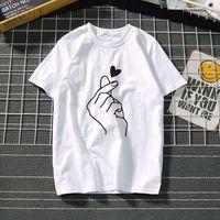 Women's T-shirt Harajuku Love T Shirt Women Feminina Ladies Than Heart Ulzzang Graphic Shirts Studen 2021 Summer Femme Clothes