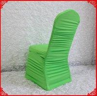 Cadeira cobre maçã verde ruffled lycra spandex stretch para casamento banquete el partido decoração