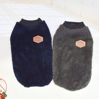Dog Apparel Clothes Winter Warm Double Ply British Velvet Jacket Four Legs Jumpsuit Thicken For Dogs Cats Costume Puppy Cold Weather