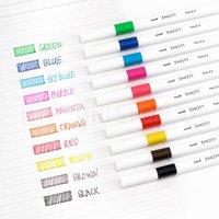 Gel Pens Uni Mitsubishi EMOWater-resistant Signature Pen Color Hand-written Notes Watercolor Marker 10C Set