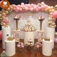 3pcs Round Cylinder Pedestal Display Art Decor Cake Rack Plinths Pillars for DIY Wedding Party Decorations Holiday ef