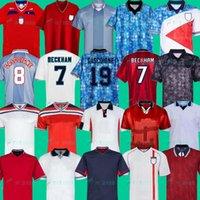 1996 soccer jersey rétro Angleterre Gascoigne SHEARER McManaman SOUTHGATE vintage classique Sheringham 96 98 maison loin maillot de football Beckham