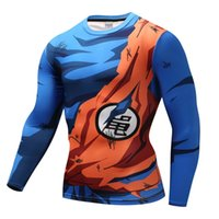 15 Colors Men Sports Tee Shirts Long Sleeve Compression Tops Cosplay Son Goku Running Fitness Costume Gym Tshirt Dropshipping