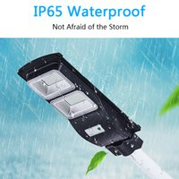 All in One Solar Lamps Wall Lead LED Lights IP65 Street Road Light 30 60 90W Outdoor Lighting with PIR Motion Sensor Timing Lamp+Poles and Remote Control for Plaza Garden