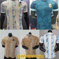 21 22 player version Argentina soccer jersey MESSI DYBALA MARADONA 2021 2022 Copa America home away Men football shirt Customized S-2XL