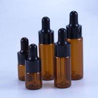 50pcs lot 5ml 10ml 15ml 20ml Amber Glass Dropper Bottle Portable Glass Eye Dropper Aromatherapy Esstenial Oil Bottle