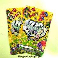 Neue Zwei größe Kush Rush Exotics Taschen wiederveralable Reißverschlussdichtung für Frische kinderfeste Blumen Verpackung 3,5g oder 7g mylar one
