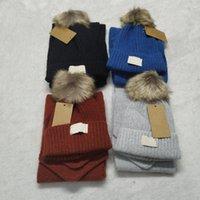 Bambini Designer Cappelli Sciarpe Set di moda Baby Inverny Sciarpa a maglia Cappuccio a maglia Sport All'aperto Brand Brand Hat Sciarfs Set