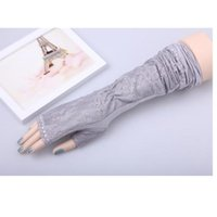 Five Fingers Gloves YRRETY 1 Pair Style White Black Arm Sleeves Running Cycling Outdoor Working Protection Lace Cover Fingerless