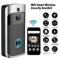 50Sets Wifi doorbell Camera Smart WI-FI Video Intercom Door Bell Video Call For Apartments IR Alarm Wireless Security Camera V5 dhl fedex
