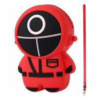 Squid Game Keychain Straps Coin Bags Purse Red Masked Man Schoolbag Bag Pendant Cute Cartoon Cell Phone Charm Hanging Chain 3 Style High Quality