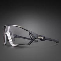 2021 Мужчины Женщины Велосипед Велоспорт фотохромный 1 объектив Очки на открытом воздухе Спорт Солнцезащитные очки дороги Велосипеда езда MTB Goggle Вождение очки