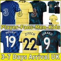 Nova Tailândia Futebol Jersey 21 22 Werner Havertz Chilwell Ziyech Jerseys 2021 2022 Camisa de Futebol Pulisic Kante Mount Homens Crianças Conjunto de Kits Home CFC Player Versão Completo