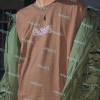 الصيف رجل مصمم تي شيرت الأزياء والعلامات التجارية إمرأة فضفاض تيز الفاخرة الأزواج شارع الهيب هوب قصيرة الأكمام الزى حجم S-XL