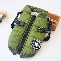 Dog Apparel Cotton Vest Jacket Cloth One-Piece Pet Clothes Winter Padded Two-Legged Custome