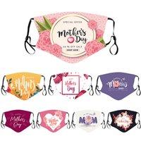 Tasarımcılar Erkekler Kadınlar Yüz Maskesi Yetişkin Çift Mutlu Anne Günü Parti Maskeleri Toz Geçirmez Baskılı Anne Ayarlanabilir Ağız FacMask W-00760
