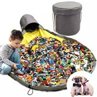 Storage Baskets Foldable Toy Bag Laundry Basket Kids Play Mat Oversized Cleanup Organizer Durable Building Blocks Pet Dogs Toys Pouch