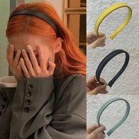 Mujer Faux Cuero PU Hairbanda Sólido Diadema MUJER ACCESORIOS PELO PELO SIMPLE CABEZA ARNAMENTE ADNAMENTS