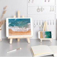 Cell Phone Mounts & Holders Foldable Desktop Wooden Holder For IPad Mobile Tablet PC Stand Book Mini Easel