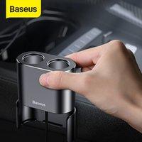 Baseus Car Splitter Cigarette Lighter Dual USB Car Charger 3.1A Quick Charger Metal Vehicle Cigarette Lighter For iPhone Xiaomi