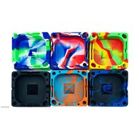 Colorfull Square Silicone Ashtray Soft Resistant Safe Unbreakable Flammable Cigarette Cigar Smoke Accessory Organizing Slot Holders NHF6904