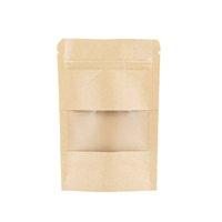 Imballaggio ufficio scuola business industrial300pcs lot kraft carta ziplock pacchetto borsa woth trasparente finestra partito mini artigianato stoccaggio sacchetti ri