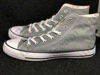 Groothandel - fabriek promotionele prijs! Unisex canvas schoenen vrouwen en mannen, hoge / lage stijl klassieke comfortabele platte casual schoen