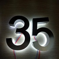Promotional Products Custom Outdoor Stainless Steel El Numbers 3d Led House Head Lamp Door Modules