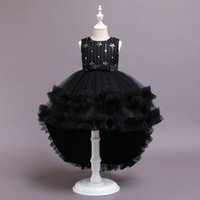 Goldenshield girls' pageant dresses children's sequins Bow dress with tails costumes prom wear 1 pc a lot super quality