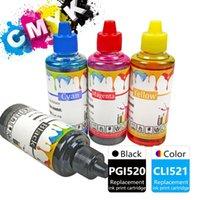 Kits de recarga de tinta 100 ml Tintas Color negro Compatible para Canon PGI520 CLI521 PIXMA MP640 MP640R Impresora MP648