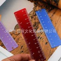 """알루미늄 합금 내구성 금속 학생 4.7 """"12cm 범위 스트레이트 눈금자 키링 첨부 - 5 색 1379 T2와 포켓 멀티 도구 측정"""