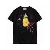 Abacaxi Designer T-shirt Homens Porco Moda Roupas de Manga Curta Mulheres Punk Cópia Carta Bordado Cat Skates Skate Tops Beverly Hills Cherry Casual Tees S-2XL