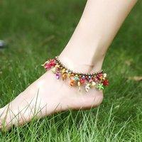 Anklets Bohemia Ethnic Vintage Handmade Vogue Original Design Bells Beads Starfish Fashion Sandy Beach Foot Jewelry For Women