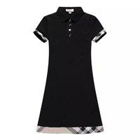 Diseñador Vestidos para mujer de alta calidad de manga corta vestido casual algodón bordado slim jersey falda de punto