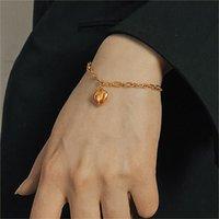 Trendy ZWC 925 Sterling Silver Minimalist Cute Cat Bell Chain Charm Bracelets For Women Girls Fine Animal Jewelry Gift Link,