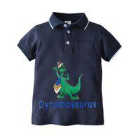 Çocuğun T-shirt Kısa Kollu Karikatür Çocuk T-Shirt Moda Klasik Polo Yaka Çocuk T-shirt Yaz Toddler Tshirt 80 90 100 110 120