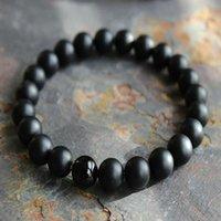 8mm Men's Matte Black Onyx Yoga Energy Beaded Bracelet Boyfriend Gift for Women Men Her His Natural Stone Beads Jewelry Charm