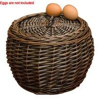 Handgemachte Kiste Gemüsefrüchte Outdoor Eier Home Organizer Container Gartenpflanze Camping Lagerkorb Wicker Rattan Körbe