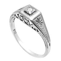 Anello in argento sterling in argento sterling in argento sterling 925 di sequoia per le donne Gemstone certificato Diamond Wedding Wedding Party gioielli vintage fabbrica
