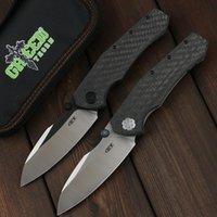 Green Thorn ZT0850 D2 Blade Carbone Fiber + TC4 Titanium Ручка складной нож Практический открытый кемпинг и охота EDC Tool