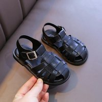 Sandals 2021 Toddler Kids Summer Beach Shoes Boys Girl Sandal For Fashion Cut-Outs Flat Children Baby Little 1 2 3 4 5 6 Year