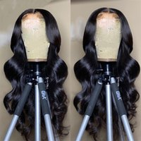 Körperwelle 13x4 Spitze Frontal Perücke Menschliches Haar Front Perücke Malaysian Lang Wellenförmige Verschlussperücken Für Schwarze Frauen Natürliche Farbe
