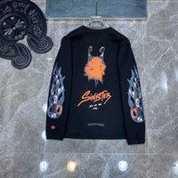 Men's Hoodies Sweater High Version Autumn 2021 Mattyboy Graffiti Flower Arm Waffle