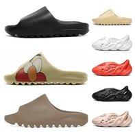 2021 Kanye мужчины женщин сандалии обувь для западных тапочек дизайнерская платформа Pape бегун Тройной черный летний открытый дом слайд кроссовки обувь 36-45